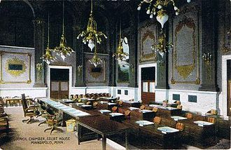 Minneapolis City Hall - City council chambers around 1900