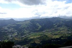 Povoação, Azores - The Povoação crater, physical location of the main parishes of Povoação and Nossa Senhora dos Remedios