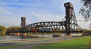 Hastings Rail Bridge - A special-excursion passenger train crossing the bridge in 2010.