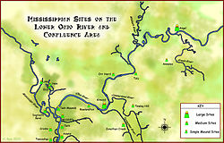 Mississippian sites on Lower Ohio Map HRoe 2010.jpg