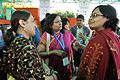 Mita Chakrabarty - Jarugumilli Kedareswari - Indrani Bhattacharya - Kolkata 2014-02-13 2413.JPG