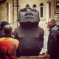 Moai Hava arriving at Manchester Museum! @mcrmuseum -MMRapaNui (16252136194).jpg