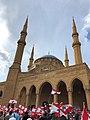 Mohammad Al-Amin Mosque during 2019 Lebanese revolution.jpg