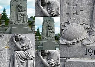 War memorials (Oise) - The war memorial at Antheuil-Portes- A montage