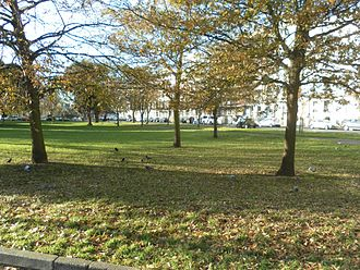 """Montpelier Crescent - """"Very pleasant"""" open space survives in front of the crescent."""