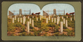 Monument to Custer and his brave men, Custer battlefield, from Robert N. Dennis collection of stereoscopic views.png