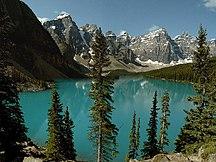 アルバータ州-地理-Moraine lake