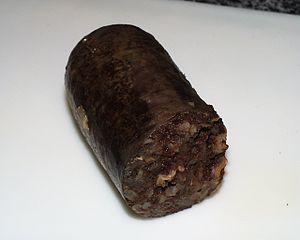 Español: Morcilla de Burgos, cocida