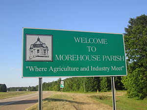Morehouse Parish, Louisiana - Image: Morehouse Parish, LA, sign IMG 2836