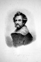 Lithografie von Robert Theer, 1856, nach einem Selbstbildnis (Quelle: Wikimedia)