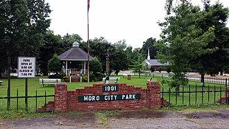 Moro, Arkansas - Moro City Park in downtown Moro