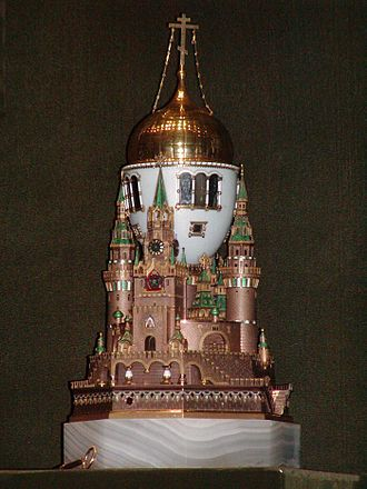 Fabergé egg - The Moscow Kremlin egg, 1906.
