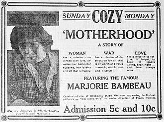 Motherhood (1917 film) - Newspaper advertisement