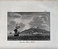 Mount Hekla, Iceland, seen from the sea. Etching. Wellcome V0025192.jpg