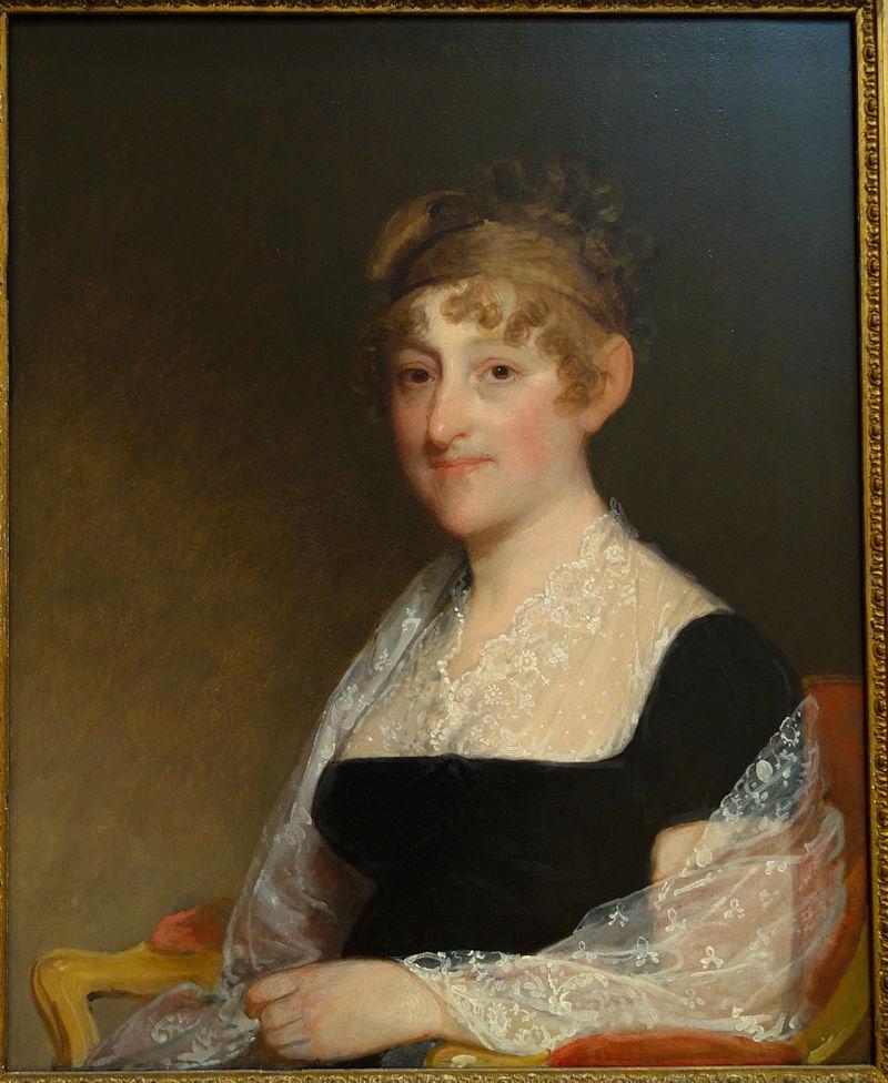 Миссис Аарон Дэвис (урожденная Теода Уильямс, 1764-1834), Гилберт Стюарт, около 1816 года, картина маслом на панно - Художественный музей Чейзена - DSC02148.JPG