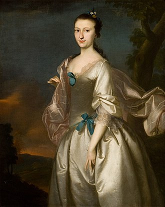 Joseph Blackburn (painter) - Image: Mrs Robert Rogers (Elizabeth Browne) 1761 by Joseph Blackburn