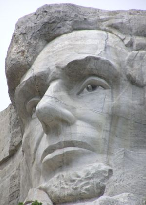 Close-up of Abraham Lincoln