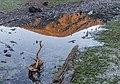 Mt McCormick (965) in the reflection, Whatamango Bay Campsite, New Zealand.jpg