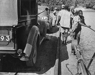 Mtwapa - Mtwapa Creek Ferry, early 1950s
