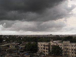 "Monsoon of South Asia - ""Monsoon burst"" over Mumbai."