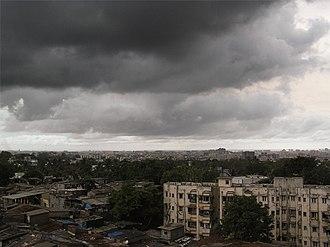 "Monsoon of South Asia - ""Monsoon burst"" over Mumbai."