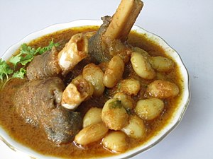 Cuisine of Jharkhand - Image: Mutton leg curry