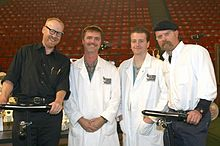 Mythbusters wikipedia at the discovery channel young scientist challenge posing with skulls unlimited internationals jay villemarette and joey williams in 2004 malvernweather Gallery