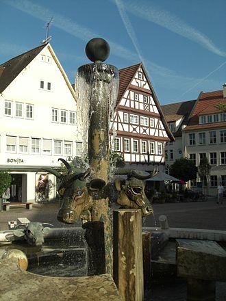 Nürtingen - Nürtingen Ochsenbrunnen Ox fountain
