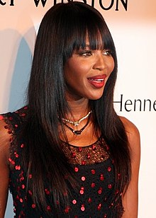 Naomi Campbell - the hot, beautiful, sexy,  actress, model,   with Afro-American, Chinese,  roots in 2019