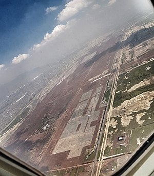 New International Airport for Mexico City - Aerial view of the new airport site, August 2017