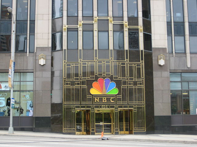 Image Credits: Wikimedia Commons | Entrance to NBC Tower in Chicago