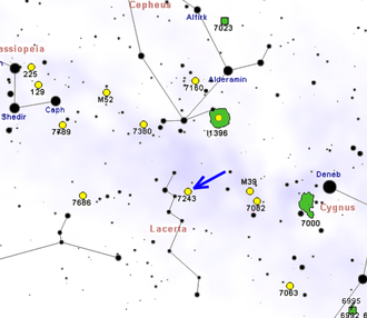 NGC 7243 - Map showing location of NGC 7243