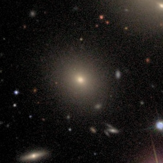 NGC 6039 - SDSS image of the giant galaxy NGC 6039. The halo of NGC 6041 can be seen at the top right corner of the image.