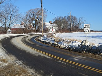 New Hampshire Route 129 - NH 129 in northeastern Loudon