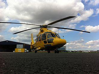 Noordzee Helikopters Vlaanderen - NHV's EC155 at Humberside Airport