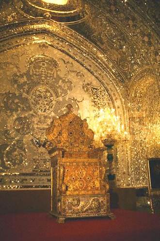 Iranian Crown Jewels - Image: Naderi throne