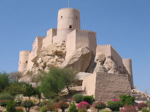 History of Oman - Nakhal Fort, one of the best-preserved forts in Oman.