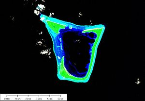 Namdrik Atoll - Landsat picture of Namdik Atoll