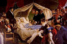 Napoleon's death at St. Helena, by Charles de Steuben, c. 1828
