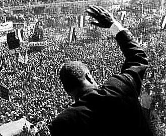 United Arab Republic - Nasser addressing the masses in Damascus, 1960