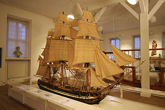 Royal Danish Naval Museum - A model of Phoenix