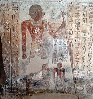 Ahmose, son of Ebana - Ahmose, depicted in his tomb at El Kab