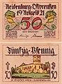Neidenburg (Nidzica) 50Pf. 1921.jpg