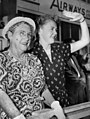 Neil Harvey's mother and fiancee 1953.jpg