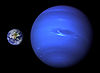 Neptune, Earth size comparison.jpg