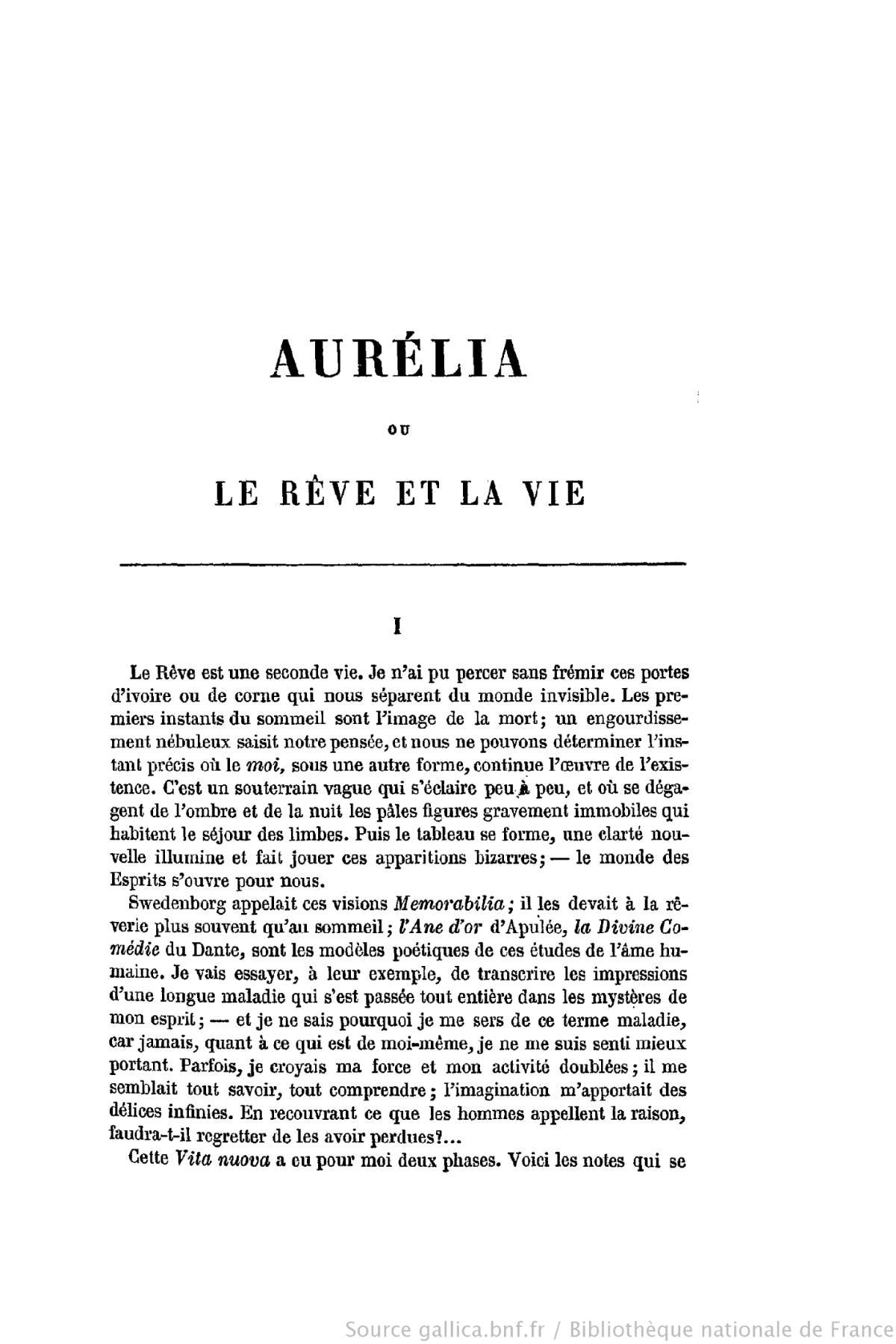 Aur lia ou le r ve et la vie wikip dia for Astrologie ou le miroir de la vie