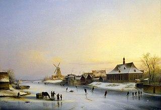 Neustadtufer an der kleinen Weser in Bremen, 1841