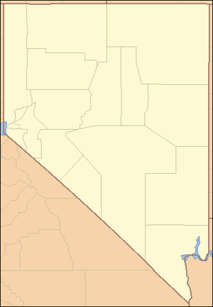High Rock Canyon Wilderness - Image: Nevada Locator Map