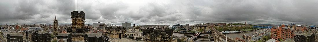 360° панорамный снимок, сделанный с вершины крепости