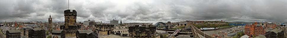 360° panoramic shot taken from the top of the Keep
